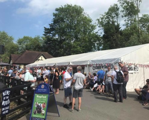 Beer festival in marquee