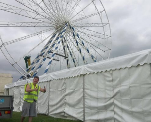 Marquee hire for fairground