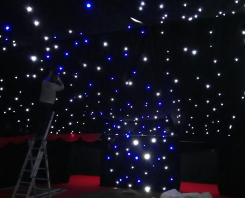 Disco lights, marquee party