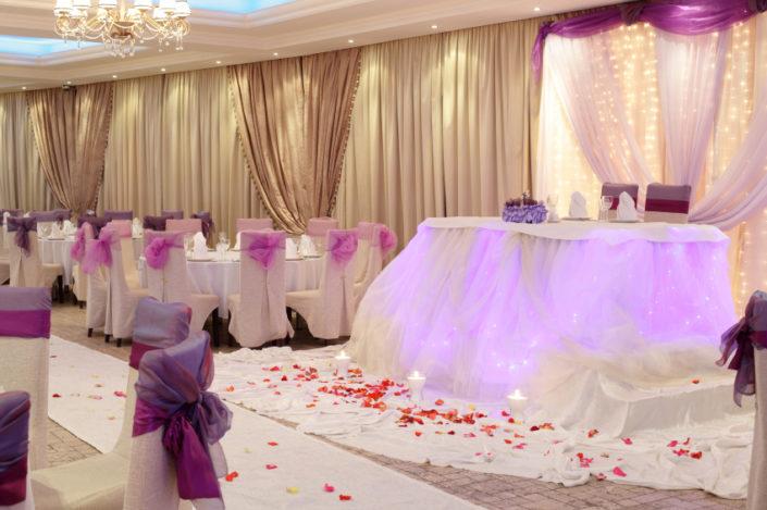 Pretty pink wedding marquee